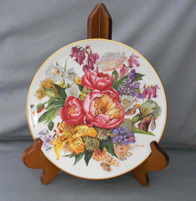 1987 hutschenreuther german floral collector display plate sommer verheissung summer in display - Decorative Christmas Display Plates