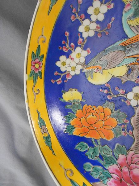 Antique Signed Hand Painted Japanese Enamel Porcelain