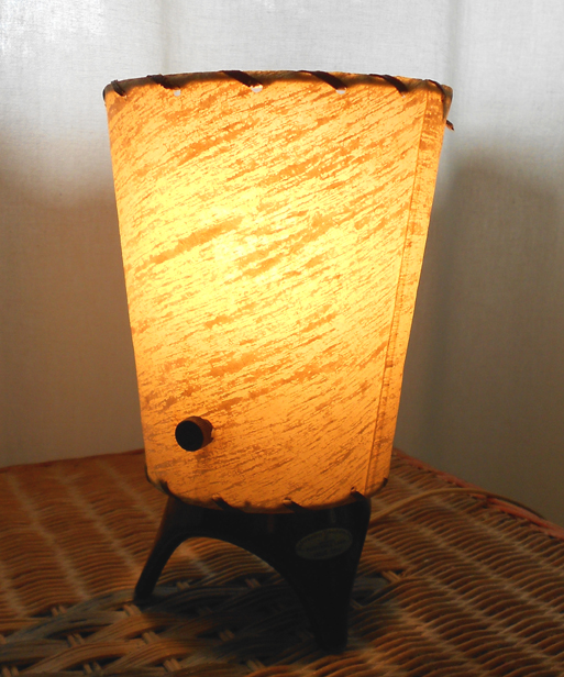 1950s Eames Era Atomic Retro Table Lamp With Fiberglass Shade In X SOLD GALLERY