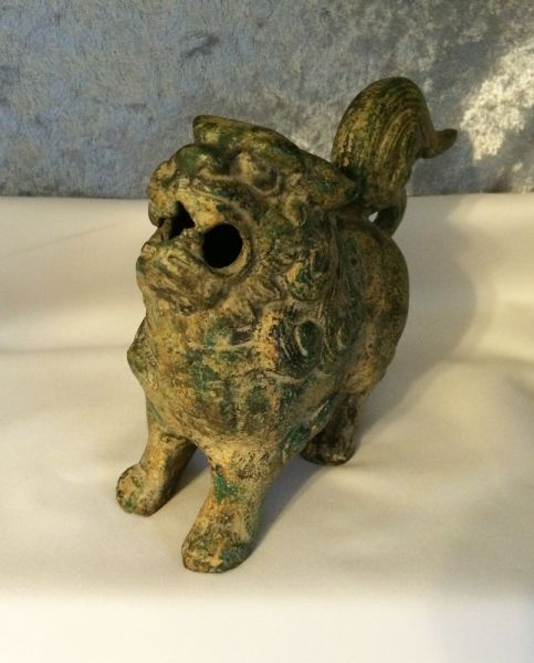 Cast Iron Vintage Chinese Foo Dog Statue In X Sold Gallery
