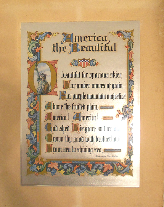 Epic image for america the beautiful lyrics printable