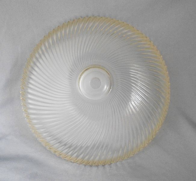 1950s Vintage Holophane Swirled Ribbed Glass Ceiling Light Cover Shade In X Sold Gallery