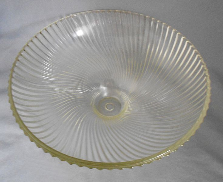 1950s Vintage Holophane Swirled Ribbed Glass Ceiling Light ...