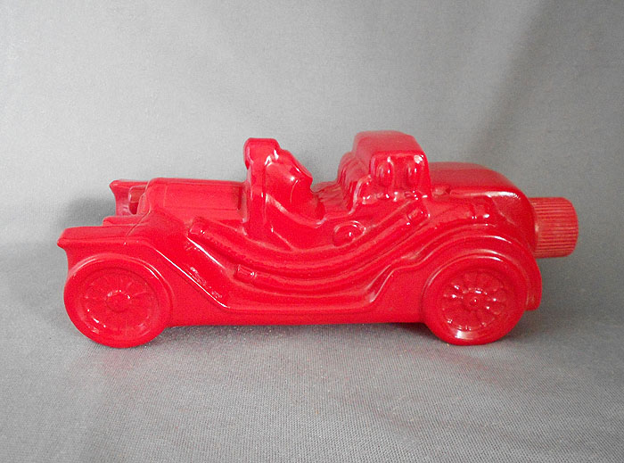 1970s Vintage Avon Red Glass Car After Shave Cologne