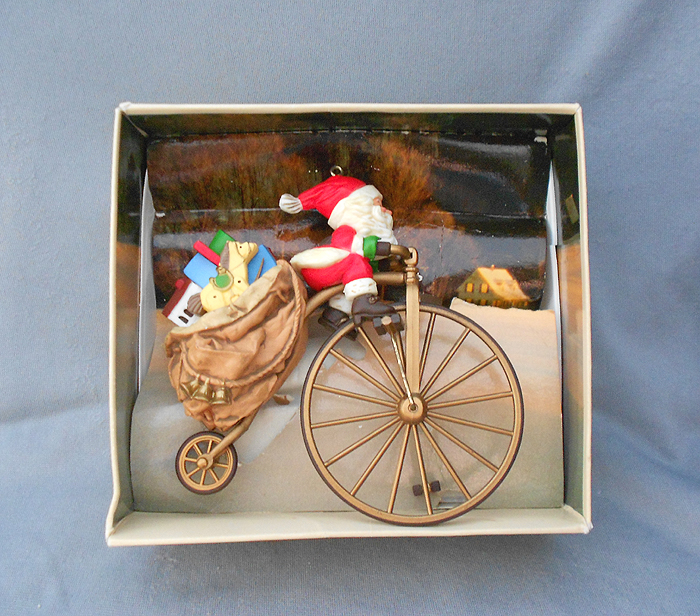Cycling Santa' Vintage Hallmark Christmas Ornament in X-SOLD GALLERY
