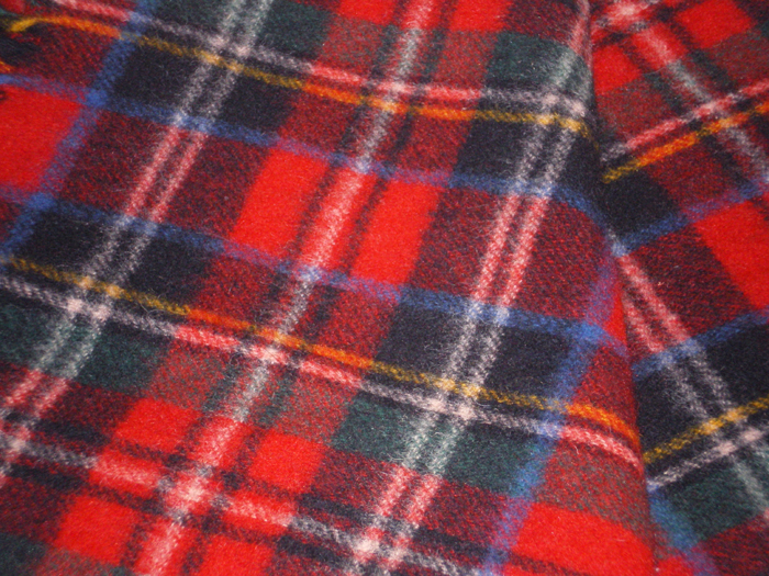 Vintage Irish Tartan Plaid Wool Throw Blanket In X Sold