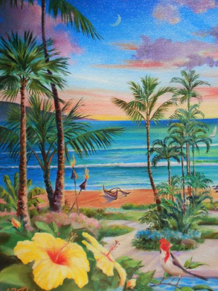 Jim Kingwell Limited Edition Giclee Hawaii Print, 'Hale Ka ...