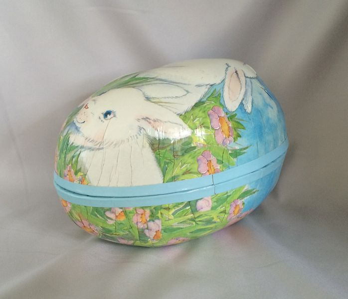1990s vintage sees candies paper easter egg box with white bunnies 1990s vintage sees candies paper easter egg box with white bunnies 3d molded candy easter container negle Choice Image
