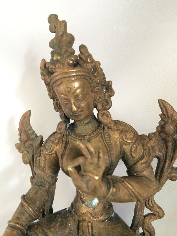 Antique White Tara Hindu Dess Ty