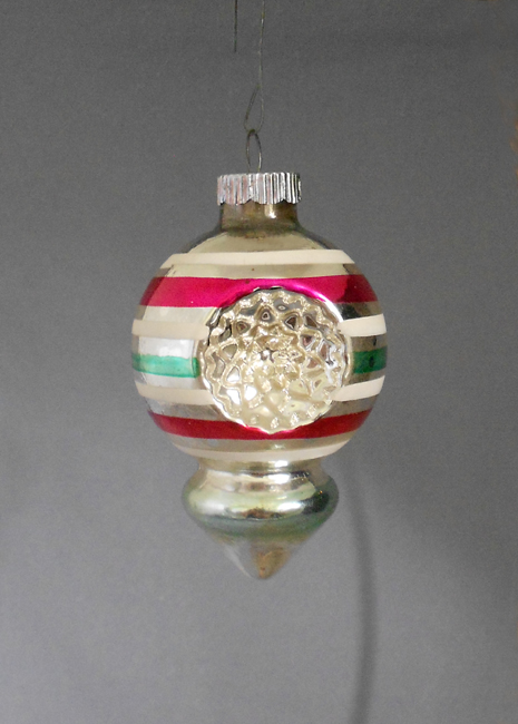 1950s shiny brite double indent lobed lantern christmas ornament in x sold gallery - Vintage Christmas Decorations 1950s