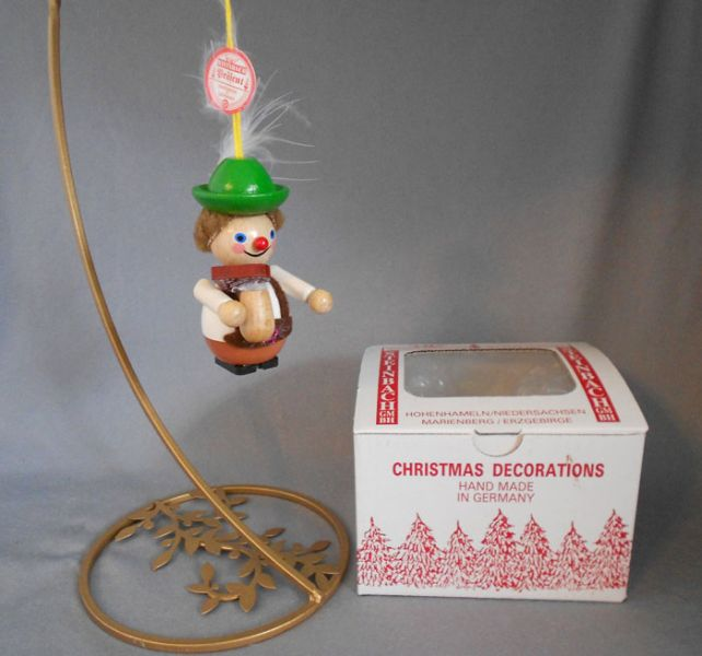 steinbach handmade wood christmas ornament lederhosen hans oktoberfest man with box in x sold gallery - German Handmade Wooden Christmas Decorations