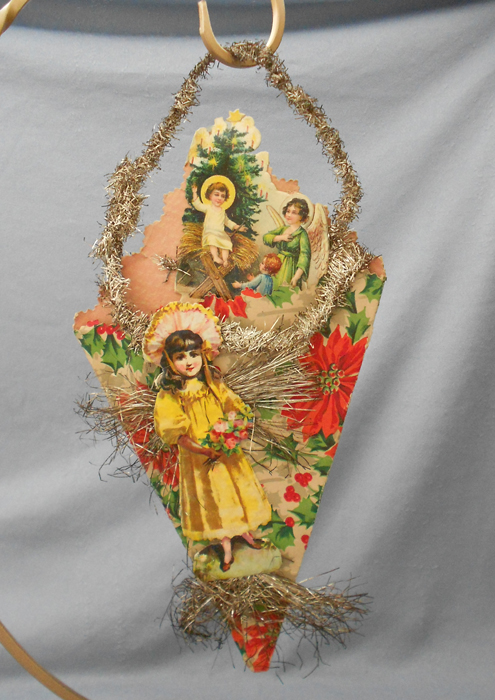 Cornucopia scrap tinsel christmas ornament in ornaments other