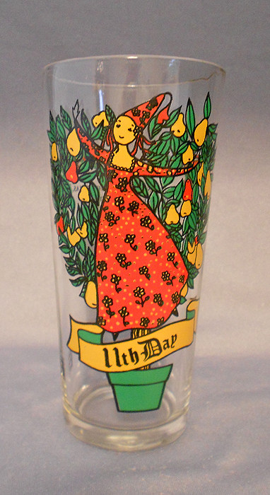 vintage pepsi 12 days of christmas beverage glass day eleven in glassware