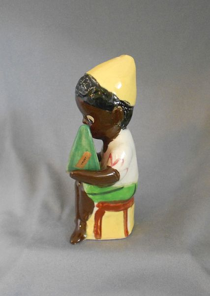 1960s Vintage Black Americana Seated Boy With Watermelon