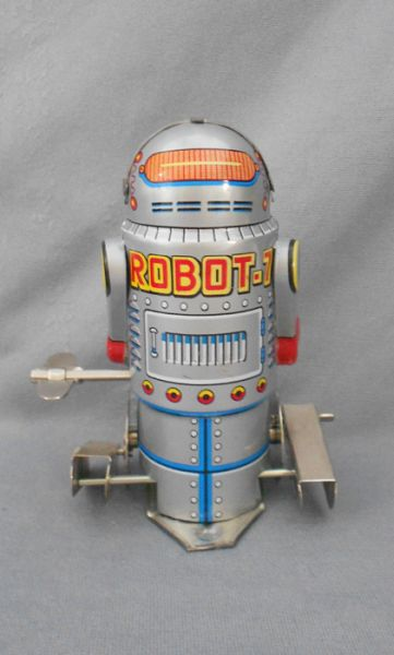 1960s Robot 7 Vintage Wind Up Tin Toy In X Sold Gallery