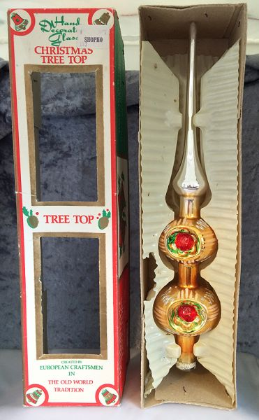 1960s Vintage Commodore Romania Blown Glass Christmas Tree