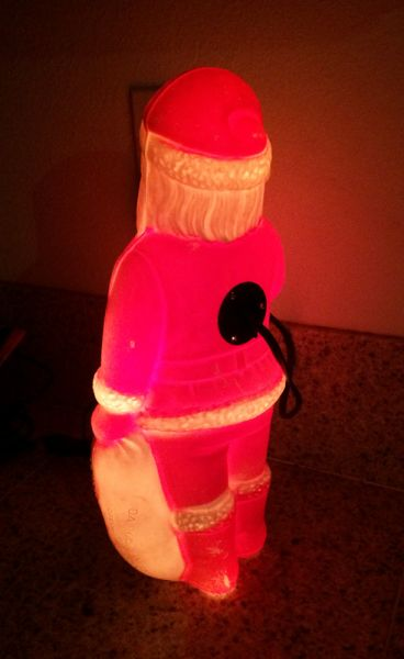 1960s Vintage Santa With Toys Illuminated Blow Mold