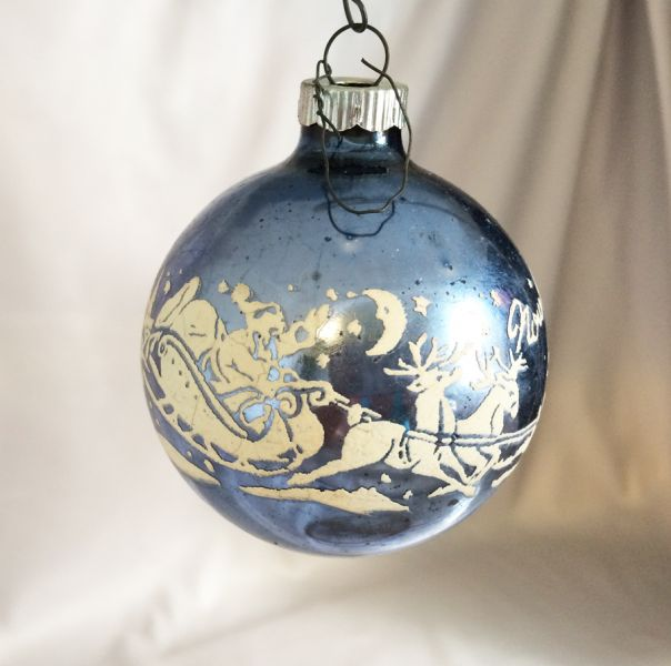 1950s shiny brite stencil ornament 39 dasher dancer 39 santa