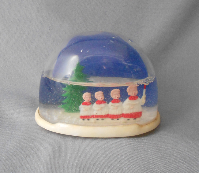 1960s Vintage Christmas Snow Globe With Four Choir Boys In X Sold Gallery