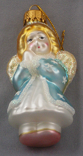 Blown glass angel christmas ornament in sold gallery