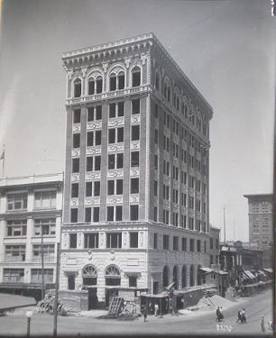 Pop Laval 1918 Original Antique Photo, Fresno Architecture Bank of America Building in photography