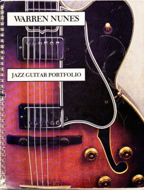 1976 Vintage Warren Nunes Jazz Guitar Portfolio Instruction Book Out of Print, Vintage Guitar Music, Jazz Guitar Sheet Music Book, Jazz Instruction Book in sheet music