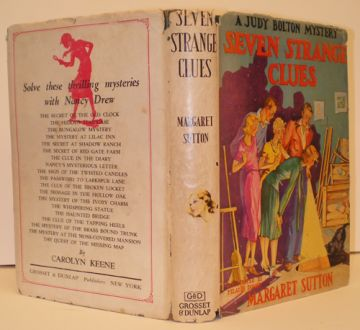1940 'Seven Strange Clues'; a Judy Bolton Mystery, by Margaret Sutton in fiction