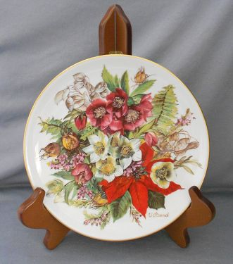 1988 Hutschenreuther German Floral Collector Display Plate, 'Frostige Schonheit' -  Winter in DISPLAY PLATES