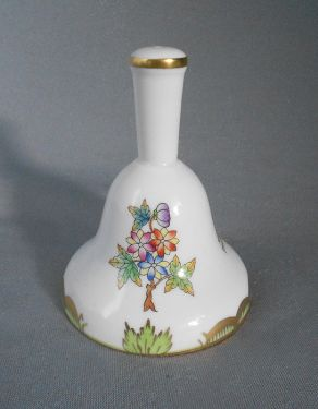 1960s Vintage Herend Hungary 'Queen Victoria' Porcelain Dinner Bell in X-SOLD GALLERY