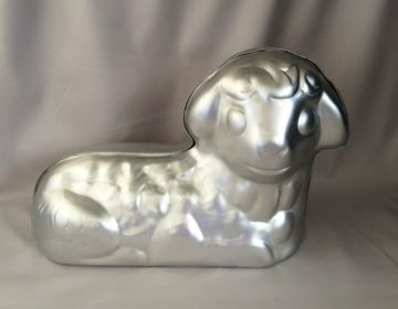 1972 Wilton Little Lamb Cake Pan Mold 3d Stand Up