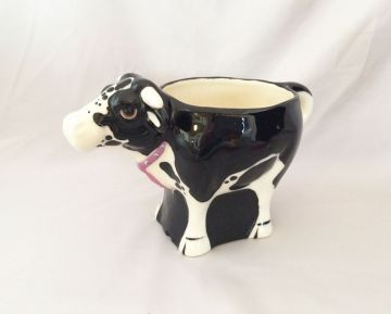 1993 Vintage Cow Coffee Mug Cup Tom Hatton Art OOAK, Vintage Studio Hand Crafted Ceramic Cow Mug, Vintage Black and White Cows, Vintage Cow Collectibles in cups & mugs