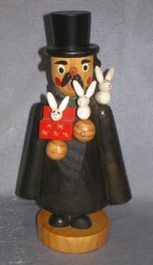 Retired Magician with Rabbits Vintage Incense Smoker in German smokers