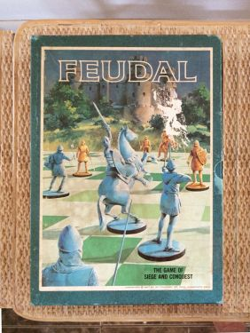 1960s Vintage Board Game 'Feudal' Strategy Game, 3M Bookshelf Games, Vintage Mid Century Toy Strategy War Game in TOYS