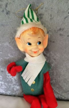 1950s Vintage Shelf Sitter Knee Hugger Pixie Elf Christmas